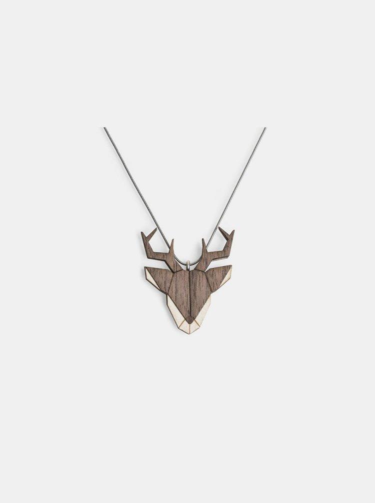 Dřevěný přívěsek BeWooden Deer Pendant na krk BeWooden