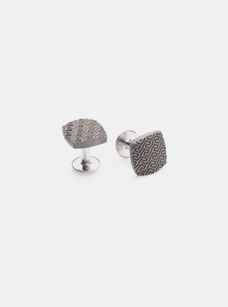 Stříbrné manžetové knoflíčky Aliq Cuff BeWooden