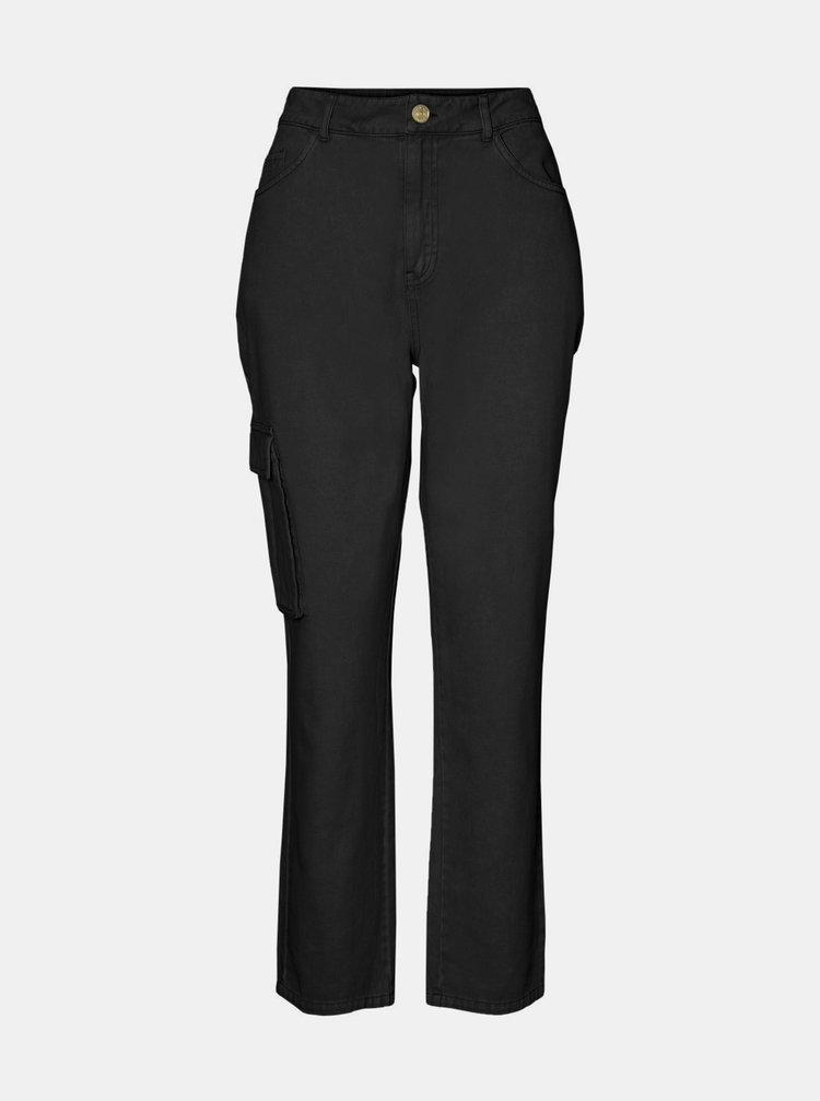 Černé kalhoty s kapsami Noisy May Mabel