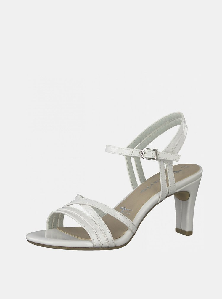 Bílé sandálky na vysokém podpatku Tamaris
