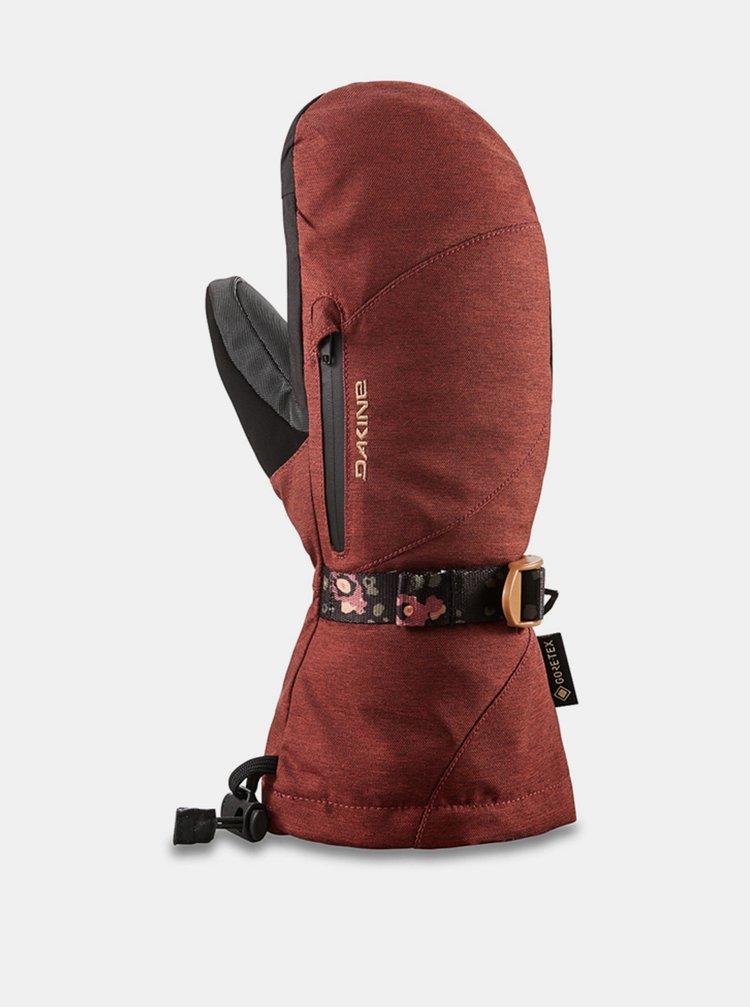 Dakine SEQUOIA MITT DARK ROSE zimní palcové rukavice - červená