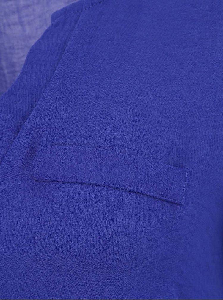 Modrá halenka s dlouhým rukávem ONLY Malou