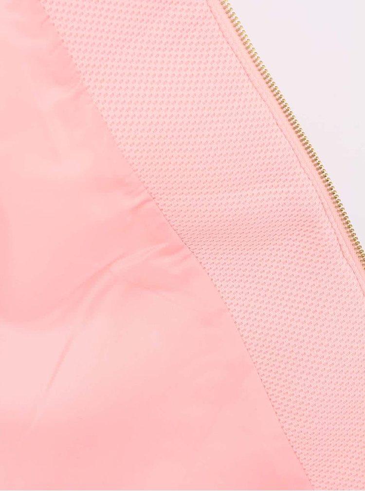 Růžový kabát z 3D síťoviny ONLY Chance