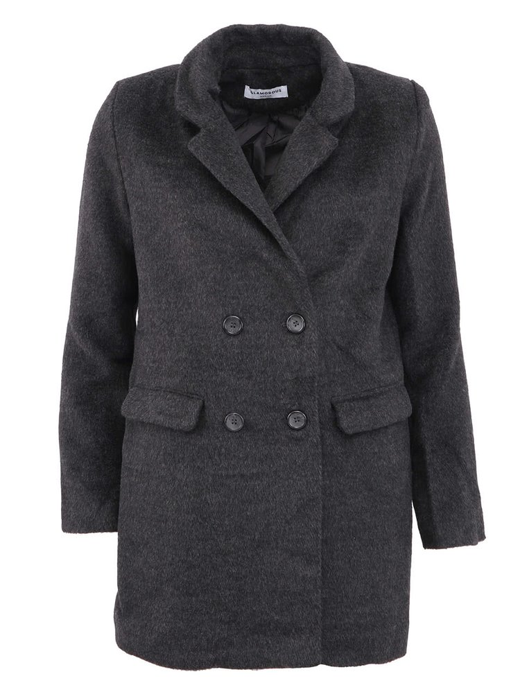 Jachetă gri elegantă GLAMOROUS