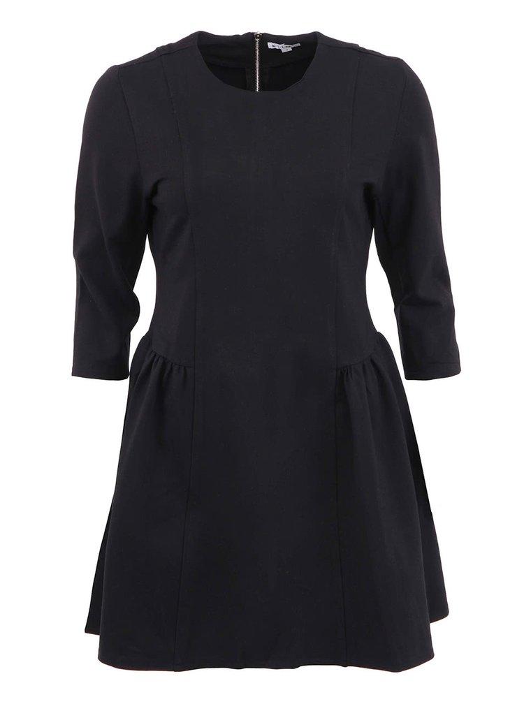 Černé šaty se stříbrným zipem na zádech Kling Valentine