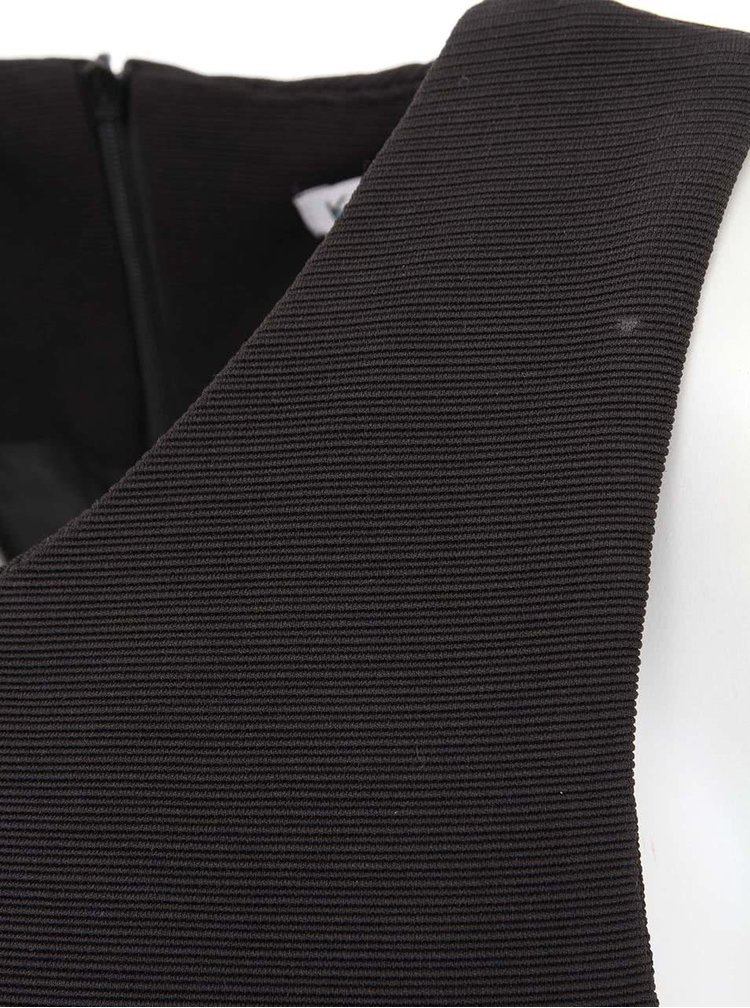 Rochie neagră fără mâneci minimalistă Kling Odette