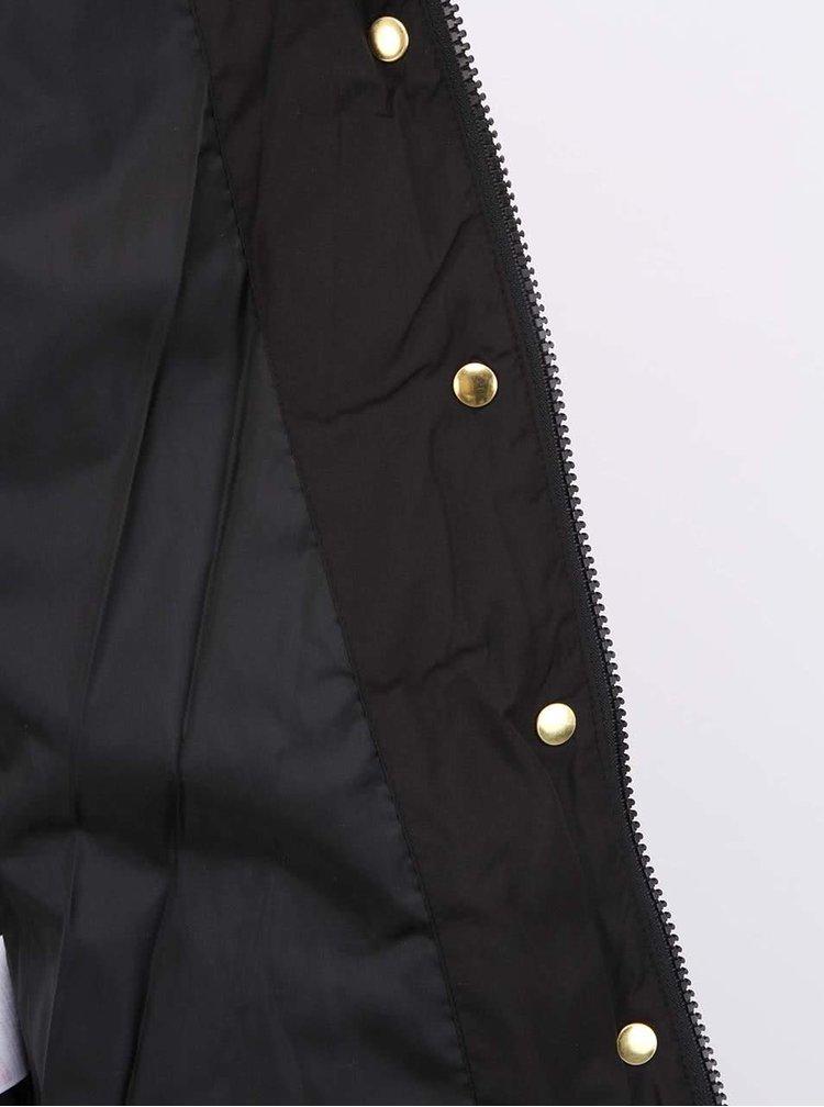 Čierna prešívaná bunda VERO MODA Macro