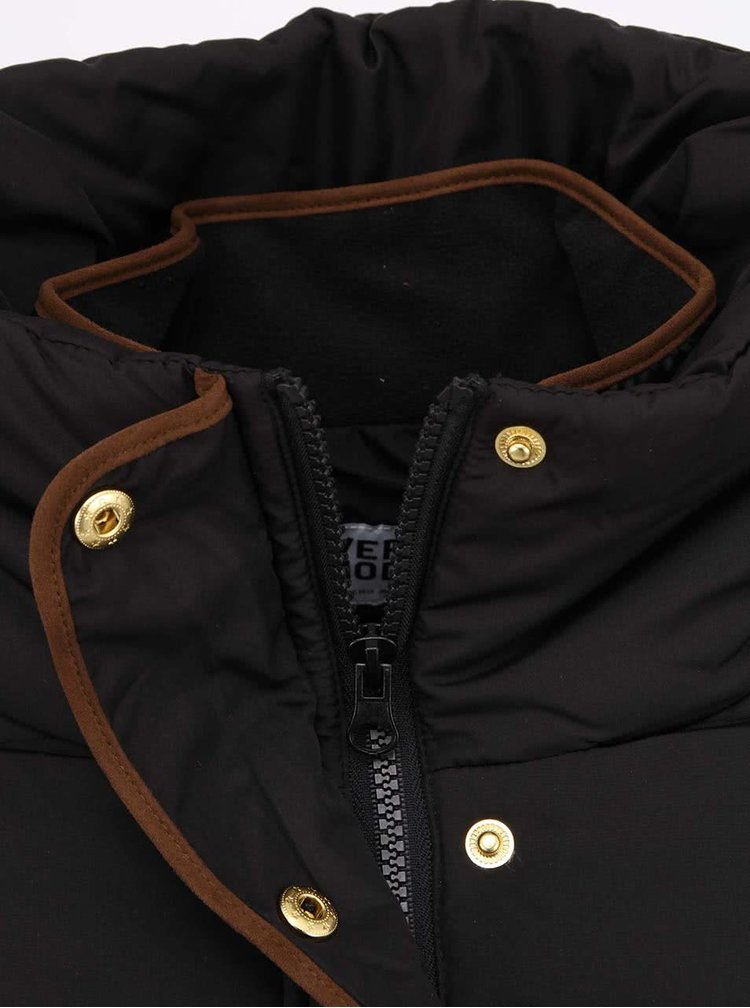 Černá prošívaná bunda VERO MODA Macro