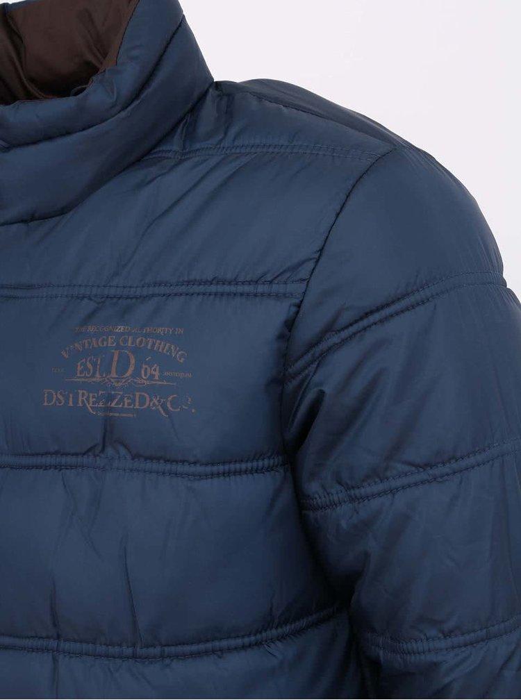 Modrá prešívaná bunda Dstrezzed