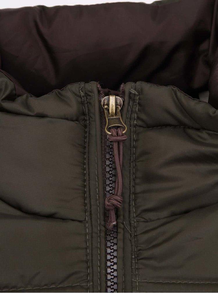 Hnedozelená prešívaná bunda Dstrezzed