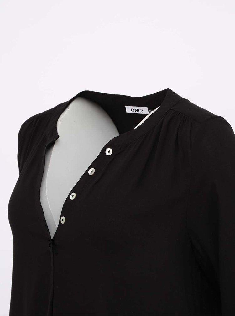 Bluză ONLY Fallow neagră cu nasturi
