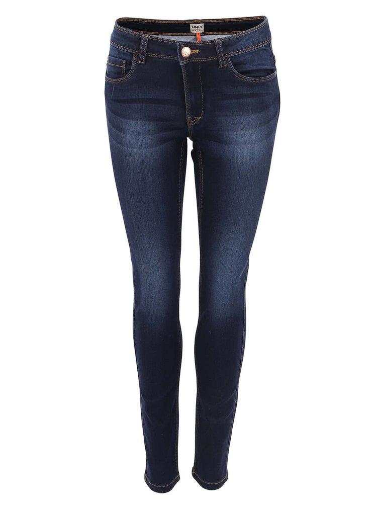 Tmavě modré skinny džíny ONLY