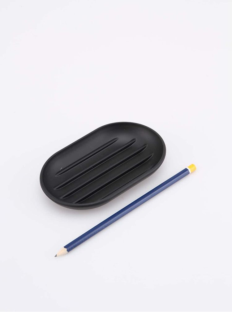 Čierna miska na mydlo Umbra Touch