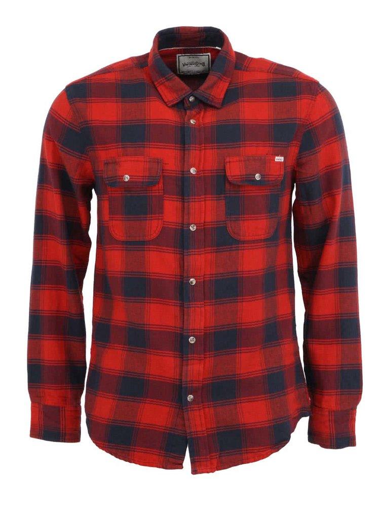 Červená košile s tartanovým vzorem Jack & Jones Drump
