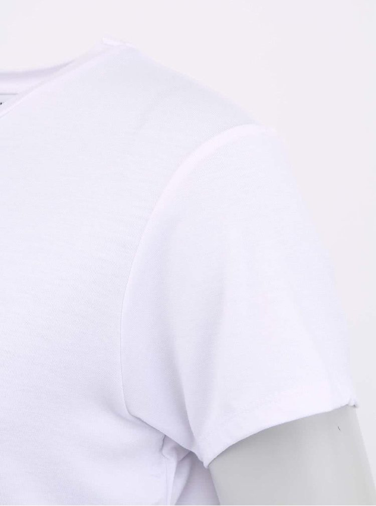 Bílé tričko s mopsíkem VERO MODA