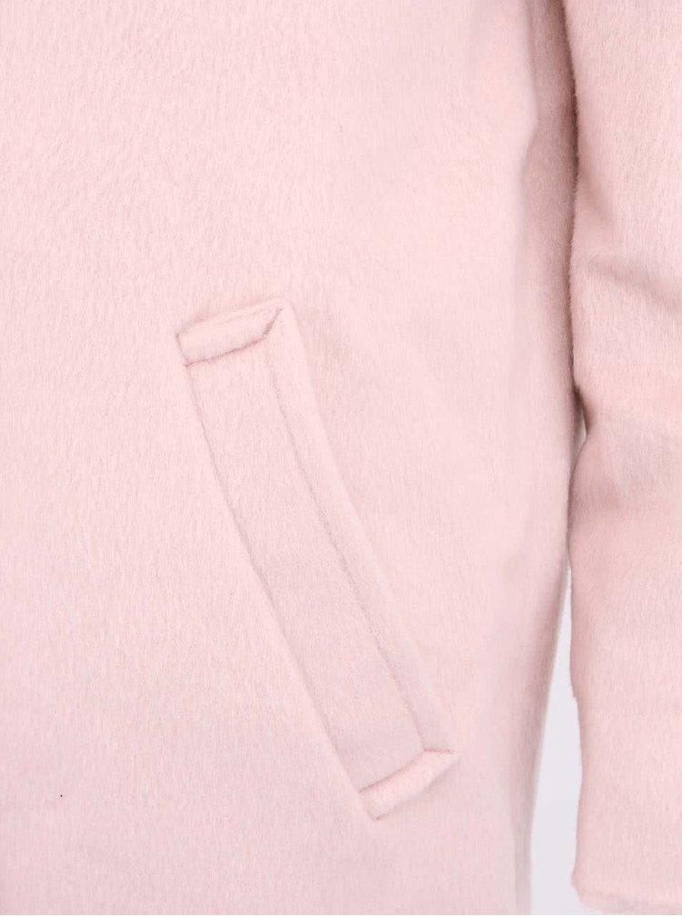 Světle růžový kabát VERO MODA Wishes