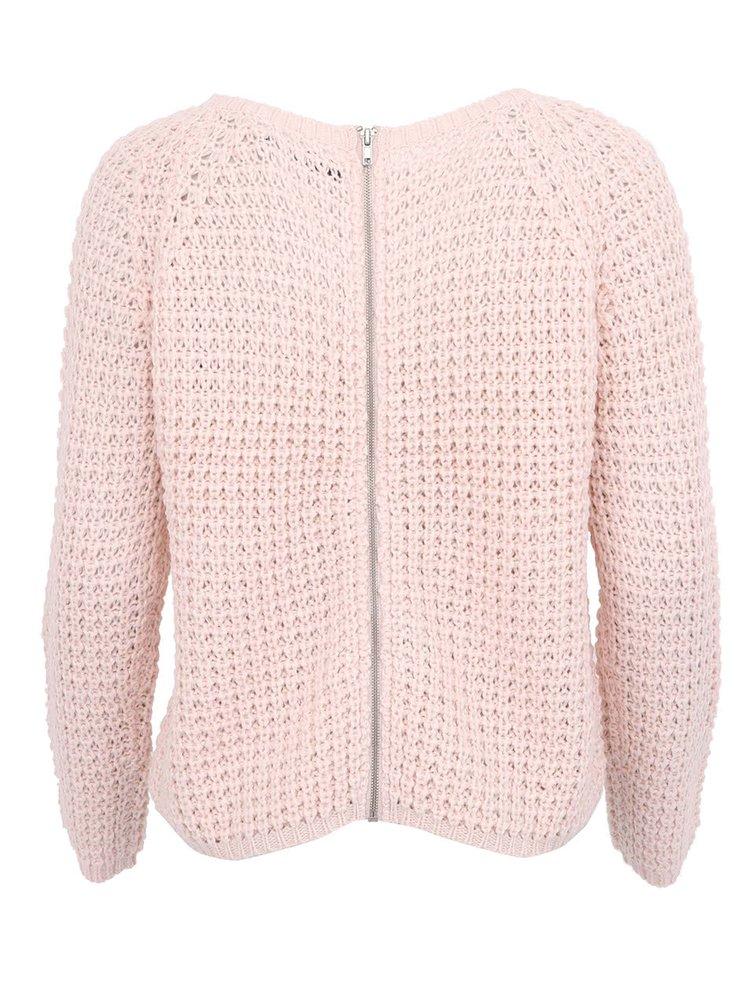 Světle růžový svetr ONLY Tullalu