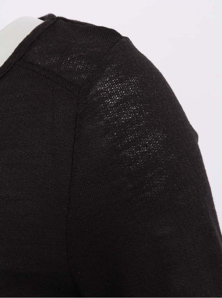 Bluza  neagra ONLY Jess cu mansete indoite