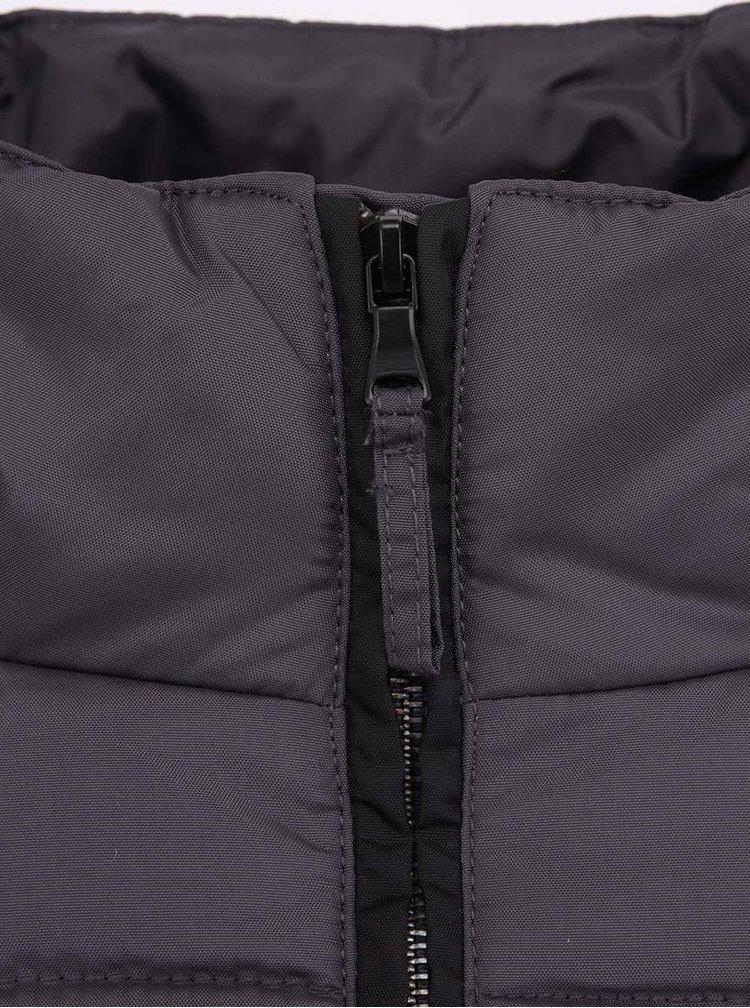 Tmavosivý kabát s kapucňou Desires Nigal