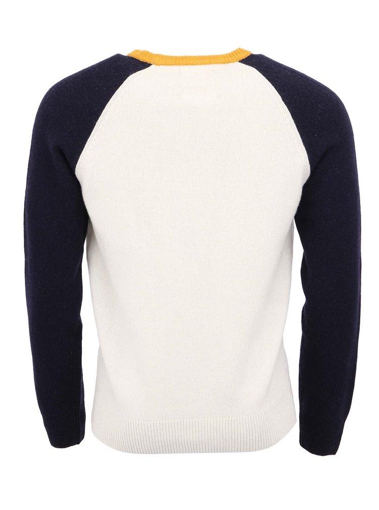 Modro-biely pánsky vlnený sveter Franklin & Marshall