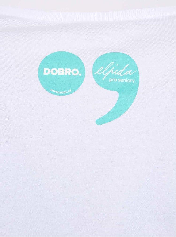 """""""Dobré"""" bílé dámské tričko s grafikou Old´s Cool Elpida"""
