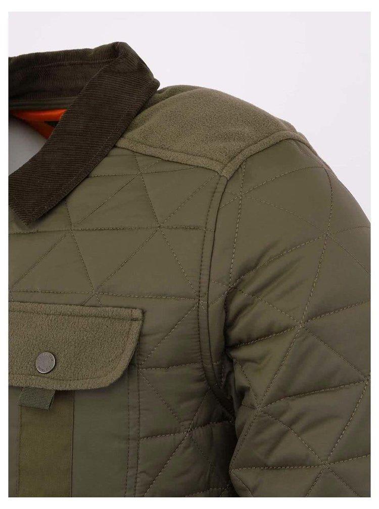 Khaki prošívaná pánská bunda Bellfield Actin