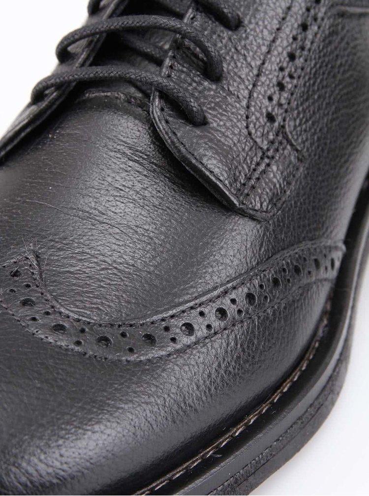 U.S. Polo Assn. Pantofi de damă Oxford Irma Black din piele întoarsă