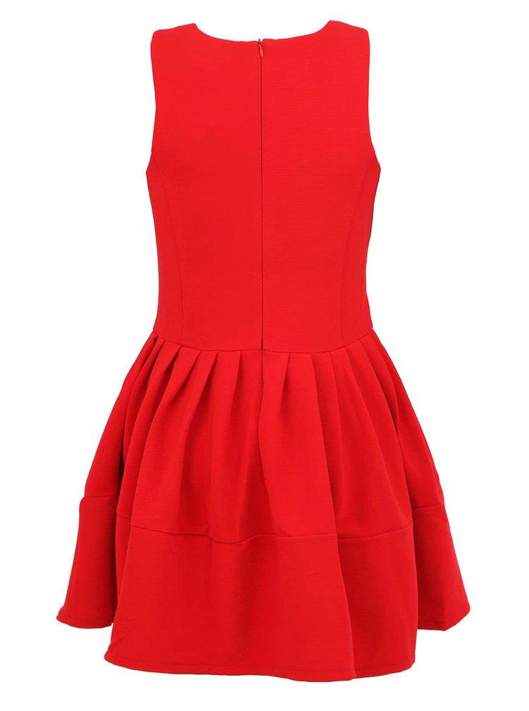 Červené minimalistické šaty bez rukávu Kling Odette