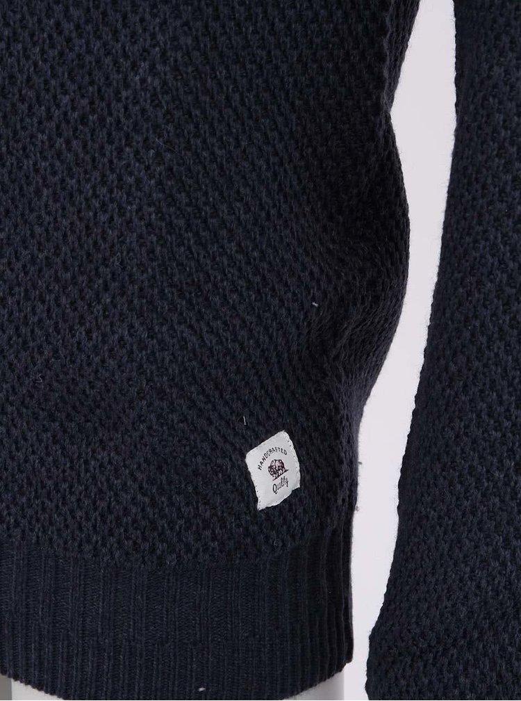 Tmavě modrý pánský svetr Bellfield Aldora