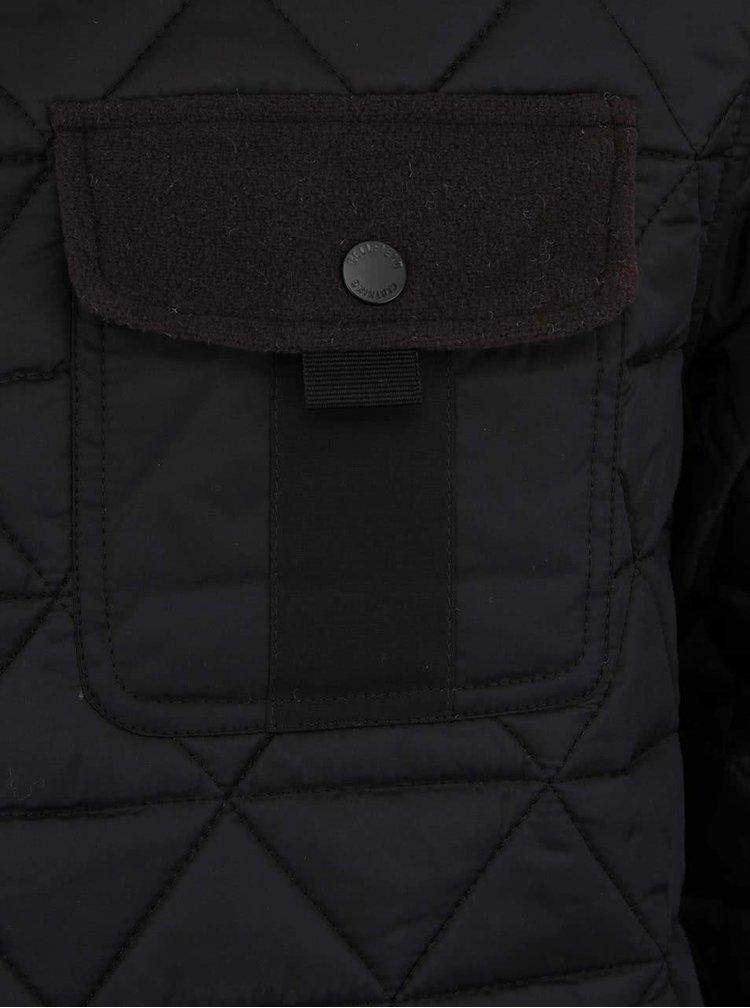Čierna pánska prešívaná bunda Bellfield Actin