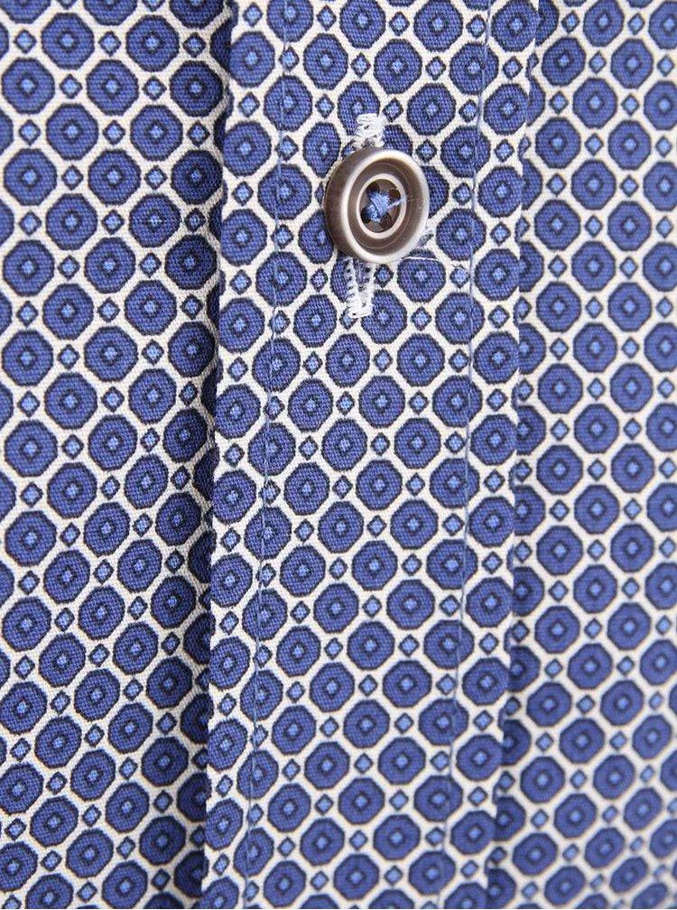 Modrá vzorovaná košeľa Bertoni Slim Fit