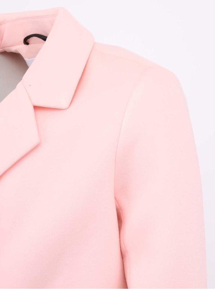 Růžový neoprénový kabát ONLY Sammi