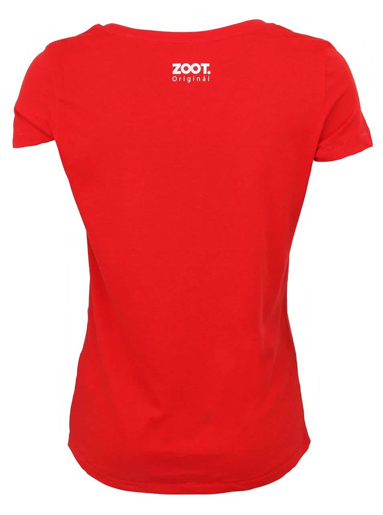 Červené dámské tričko s bílými tečkami ZOOT Originál
