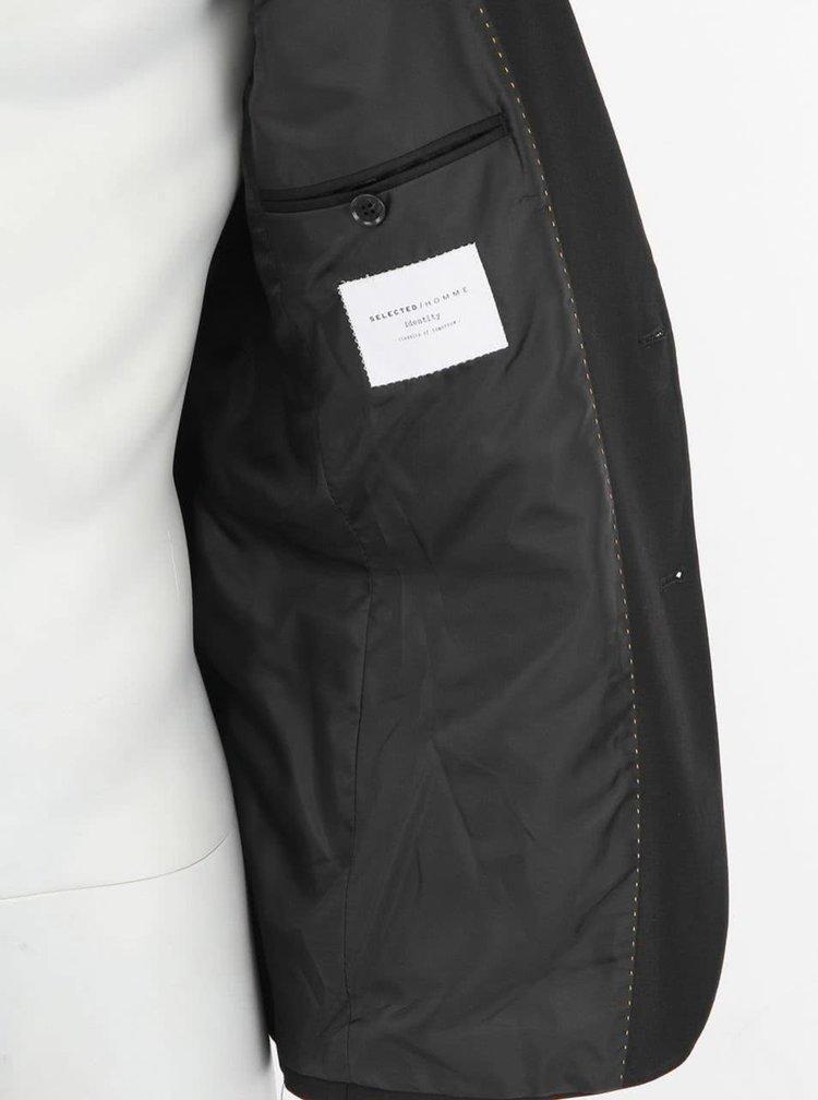 Čierny luxusný blejzer Selected One