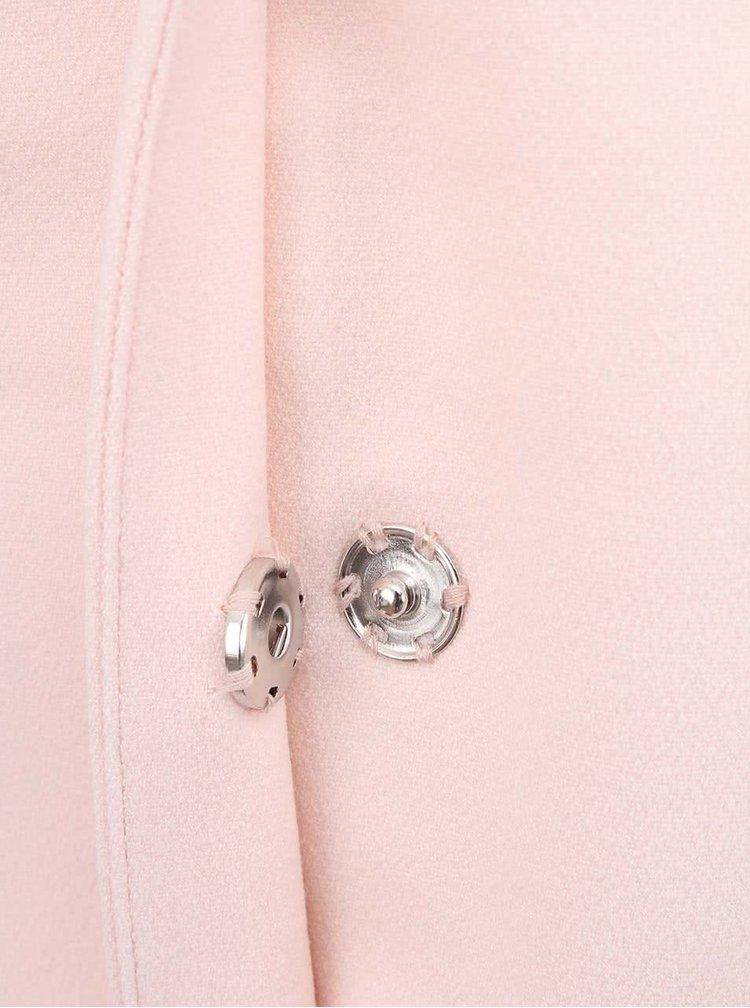 Světle růžový kabát Only Malibu