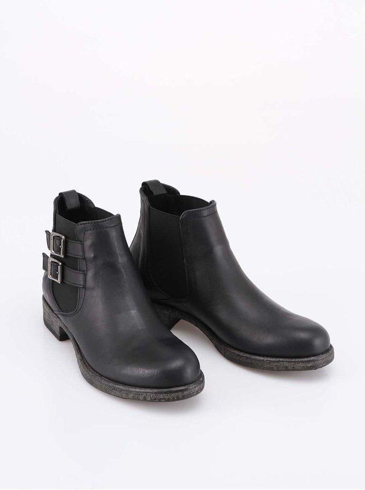 Černé dámské kožené boty U.S. Polo Assn. Kelly