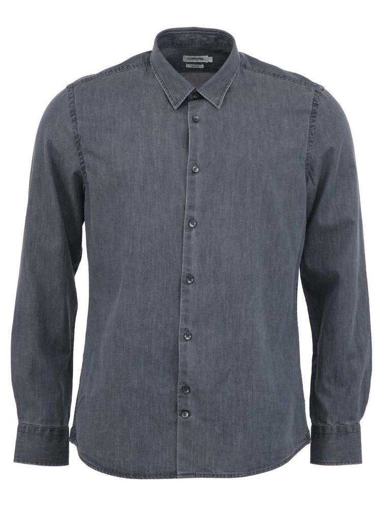 Sivá rifľová košeľa J.Lindeberg Chambree