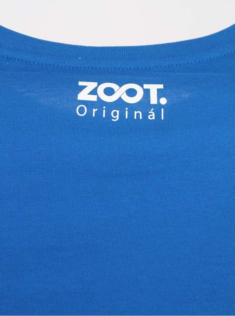 Modré pánske tričko s vlajkou ZOOT Originál