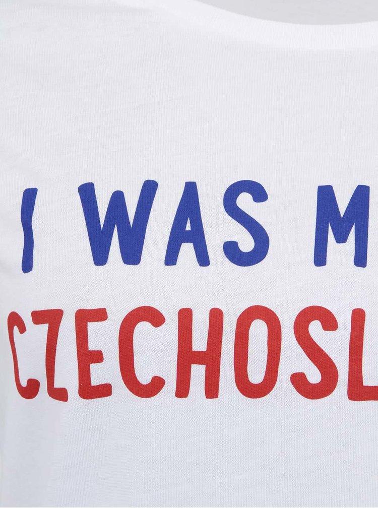Biele dámske tričko ZOOT Originál I Was Made in Czechoslovakia