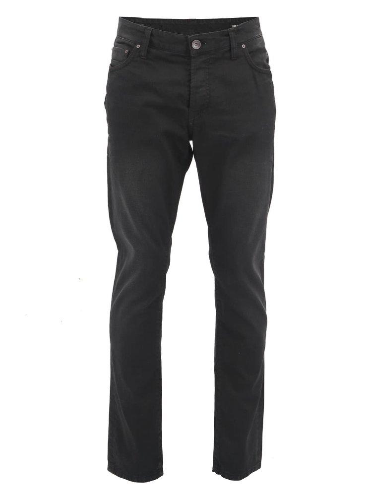 Černé pánské džíny s rovnými nohavicemi ONLY & SONS Mar