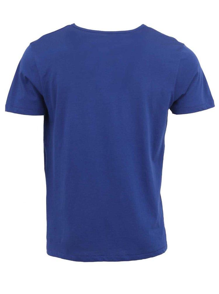 Sytě modré pánské triko Stanley & Stella Adores