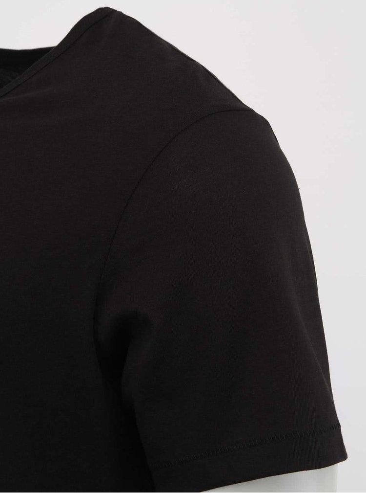Černé pánské triko Stanley & Stella Adores