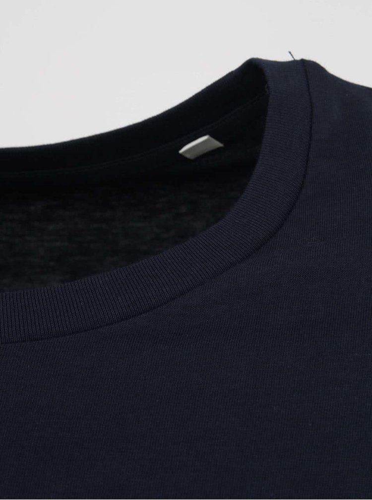Tmavomodré pánske tričko Stanley & Stella Acts