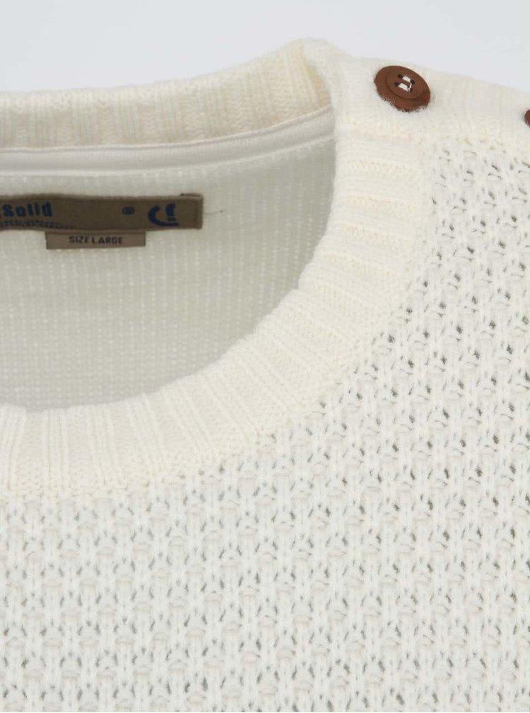 Bílý svetr !Solid Elianus