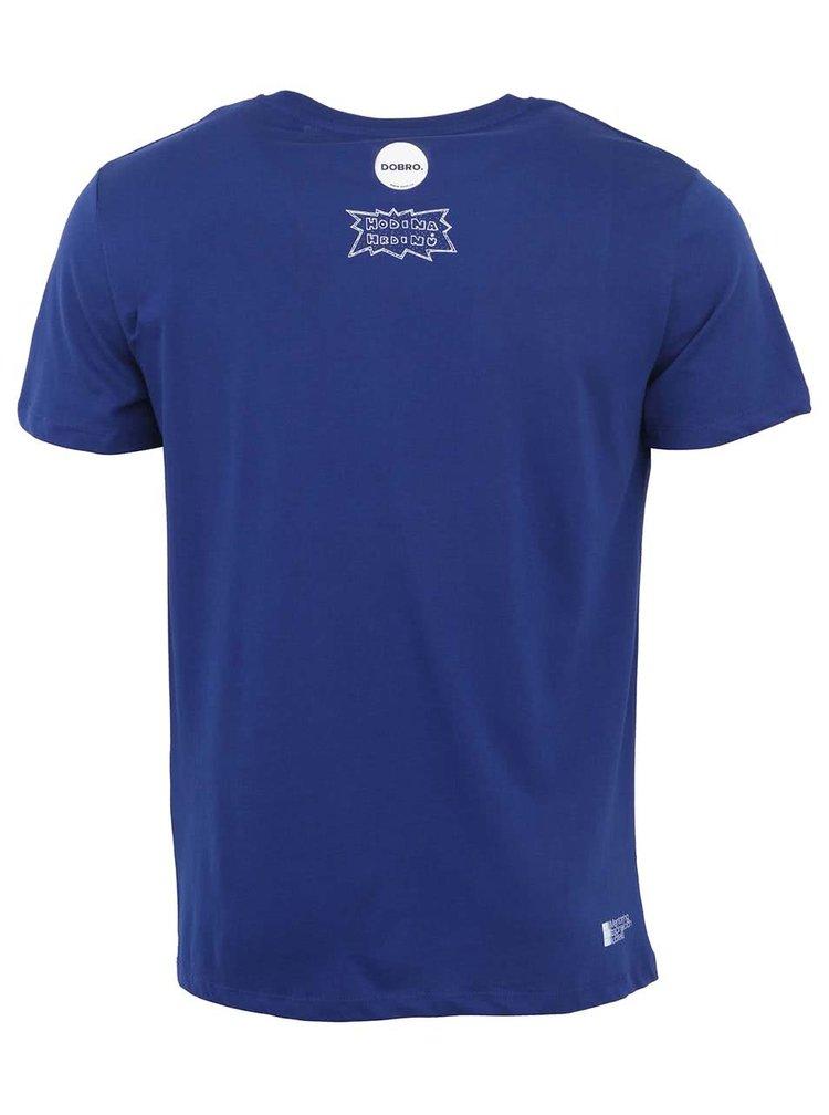 """""""Dobré"""" elektricky modré pánské tričko Hodina hrdinů"""