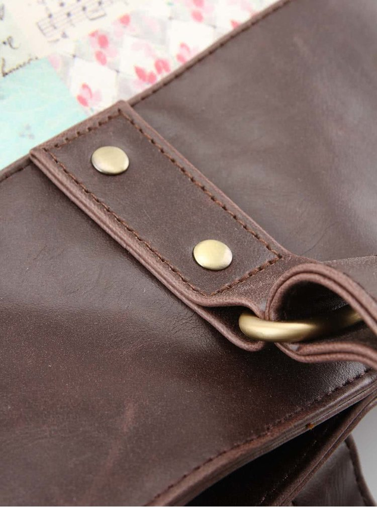 Krémová kabelka s vintage potlačou Disaster Songbird