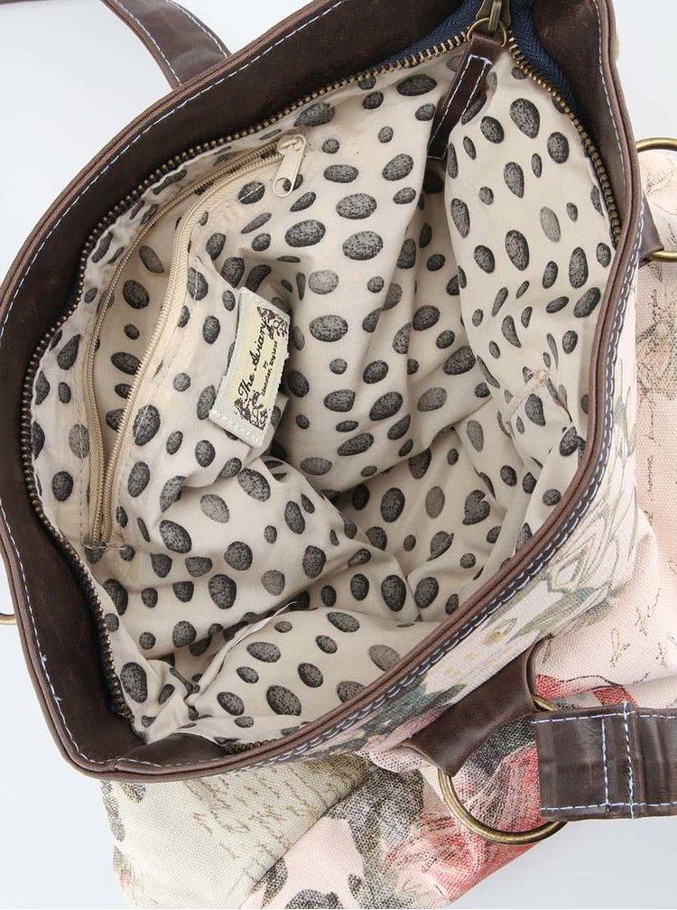 Krémová kabelka s plameňákem Disaster Aviary
