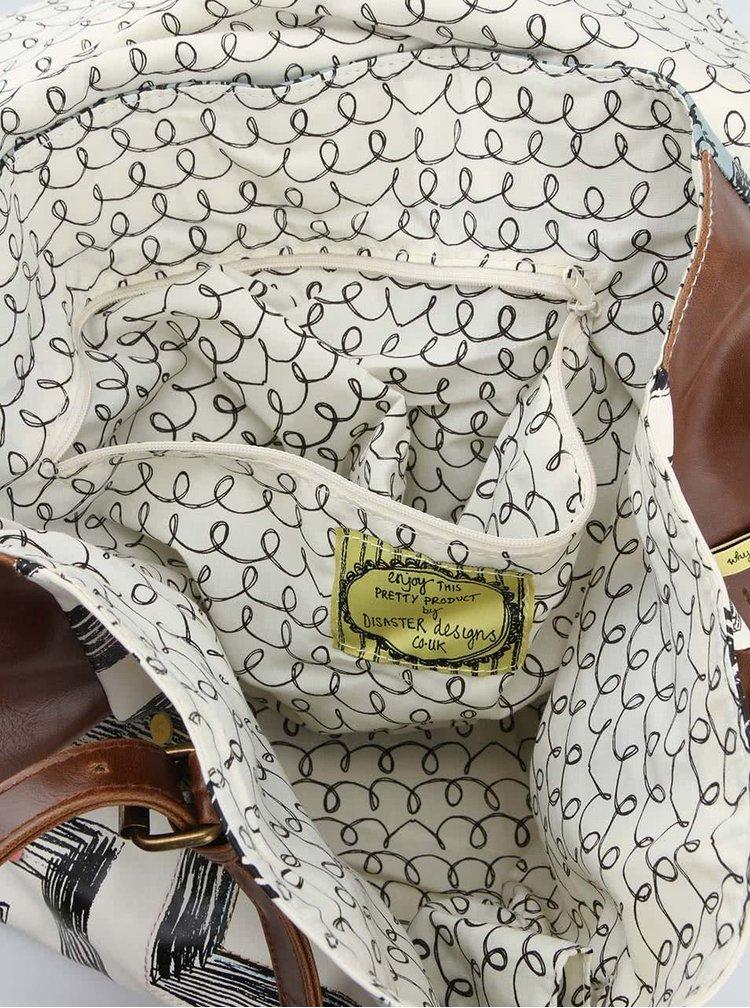 Vzorovaná kabelka s metalickou klopou Disaster Why Not