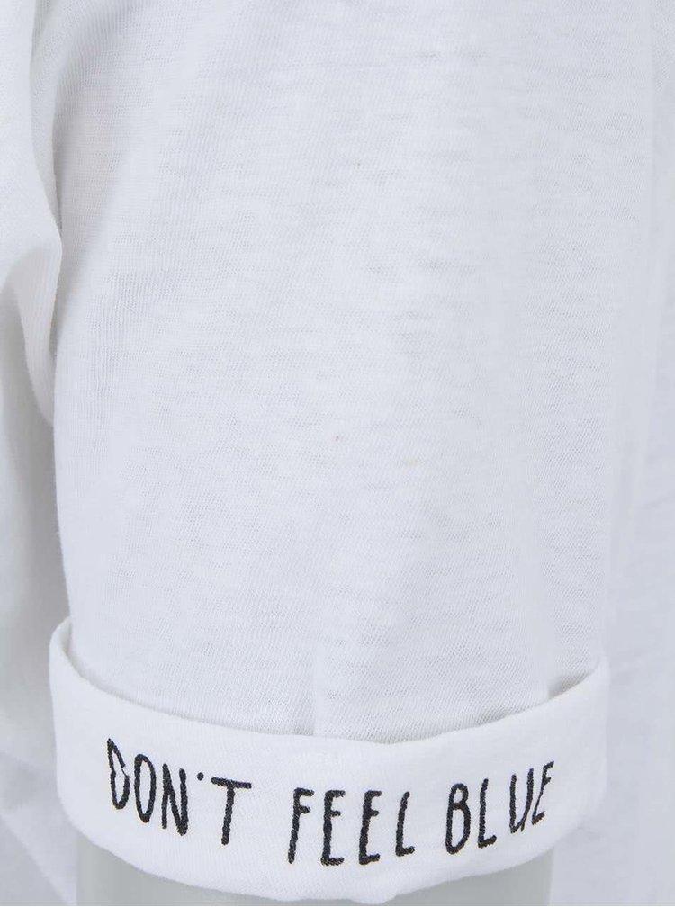 Tricou Maison Scotch alb inscripționat