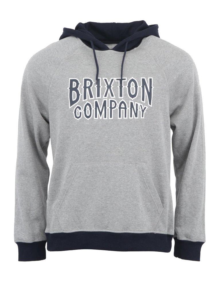 Modro-sivá pánska mikina s kapucňou Brixton Bailey